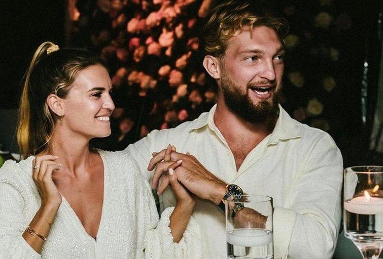 Domantas Sabonis ir Shasana Rosen  (nuotr. Instagram)