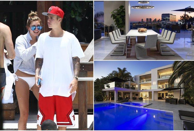 Justinas Bieberis ir Hailey Baldwin (tv3.lt fotomontažas)