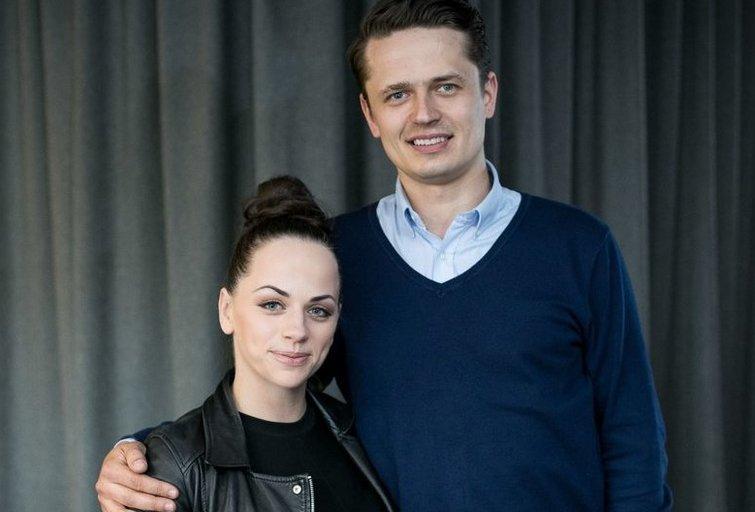 Ineta Puzaraitė su vyru Ąžuolu Žvaguliu (nuotr. Organizatorių)