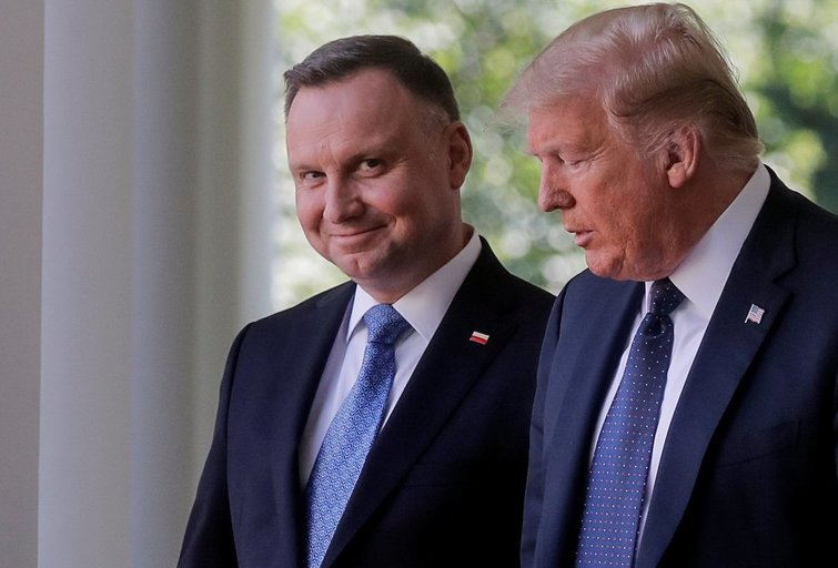 Lenkijos ir JAV prezidentai (nuotr. Scanpix)