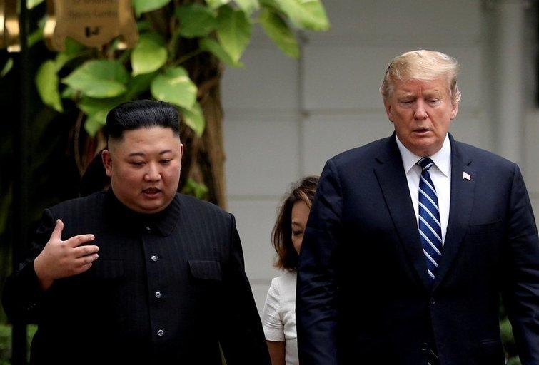 Šiaurės Korėjos lyderis Kim Jong Unas ir JAV prezidentas Donaldas Trumpas (nuotr. SCANPIX)