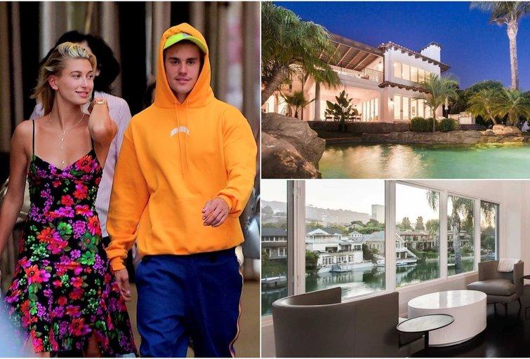 Hailey Baldwin ir Justin Bieber namai Los Andžele (homes.com nuotr.) (tv3.lt fotomontažas)