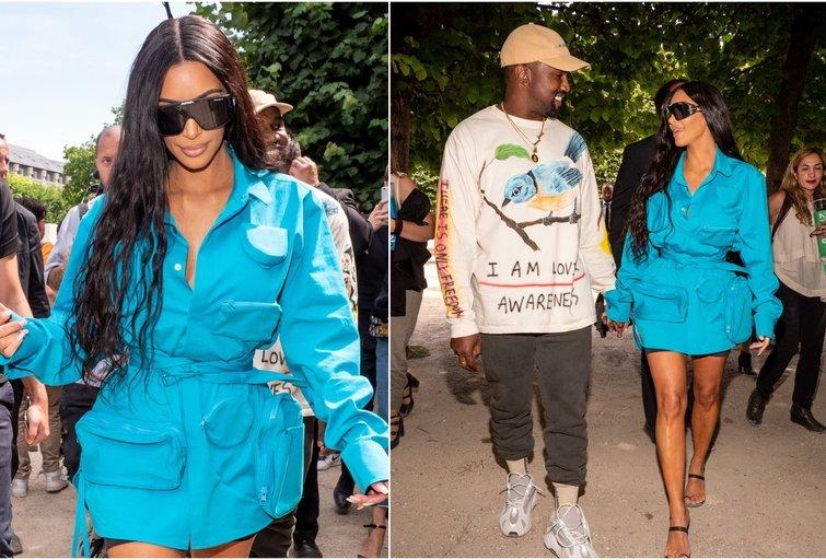 Kim Kardashian ir Kanye West (nuotr. SCANPIX) tv3.lt fotomontažas