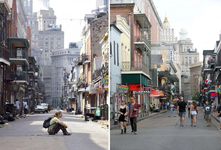 Naujasis Orleanas 2005-aisiais ir dabar (nuotr. SCANPIX)