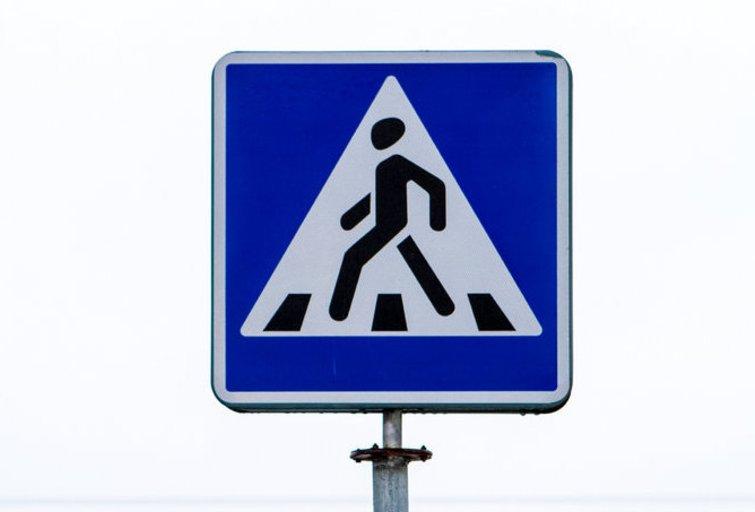 Pėsčiųjų perėjos ženklas (nuotr. Balsas.lt/Ruslano Kondratjevo)