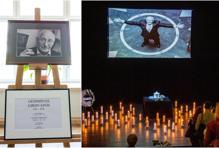 Atsisveikinimas su Gediminu Girdvainiu Vilniaus mažajame teatre (nuotr. Fotodiena/Justino Auškelio)