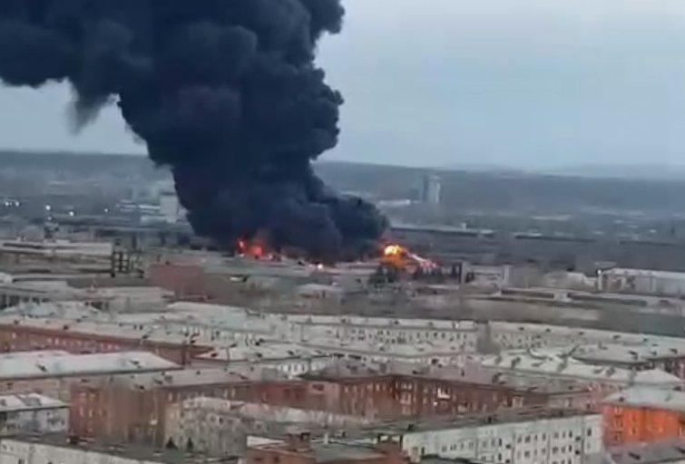 Krasnojarske dega balistinių raketų gamykla (nuotr. VK.com)