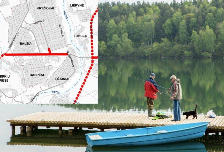 Vilniaus planuose – naujas tiltas ir kelias: vietiniai pyksta, kad dėl to bus nugriauti jų namai (tv3.lt fotomontažas)