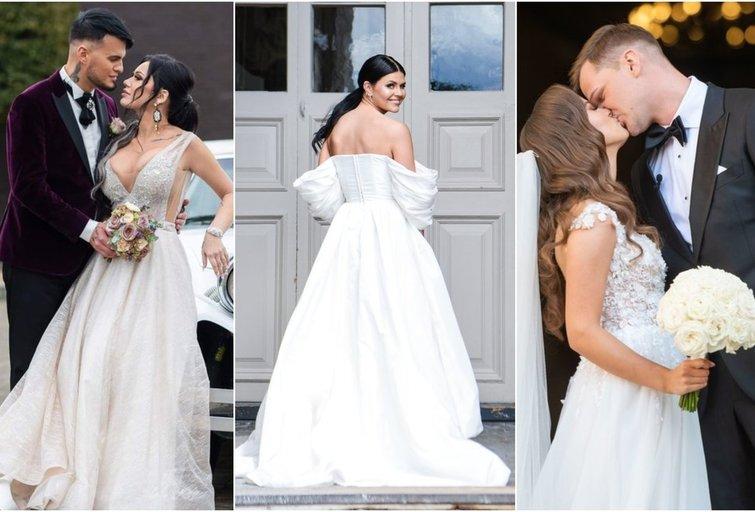 Vytenis ir Justina Partikai,akimirka iš Ingos Žuolytės vestuvių, Elena ir Vytautas Karaliai (tv3.lt fotomontažas)