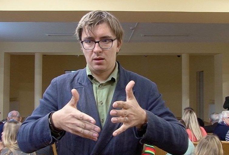 Gestų kalba (nuotr. TV3)