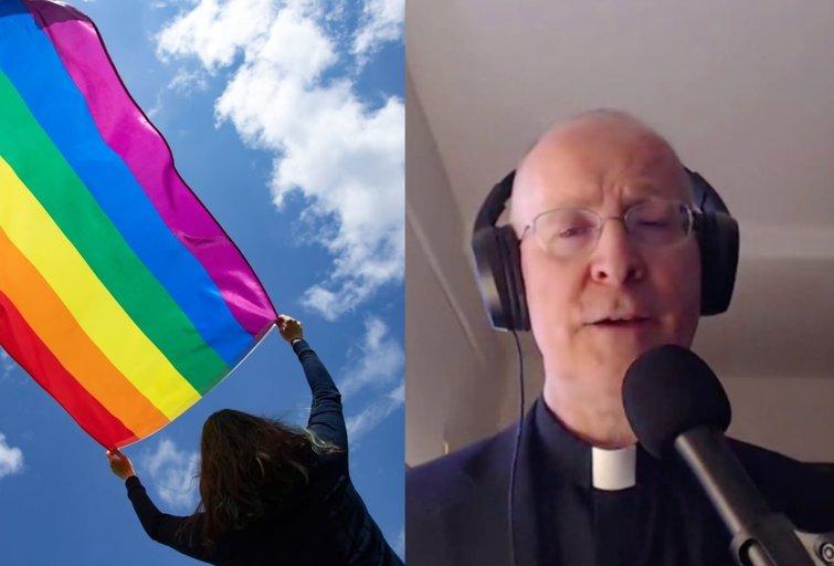 """Žymus jėzuitas apie LGBT: """"Jei Jėzus šiuo metu fiziškai vaikščiotų žeme, jis mūsų prašytų bendrauti su šia bendruomene ir jų neatstumti"""" (tv3.lt fotomontažas)"""
