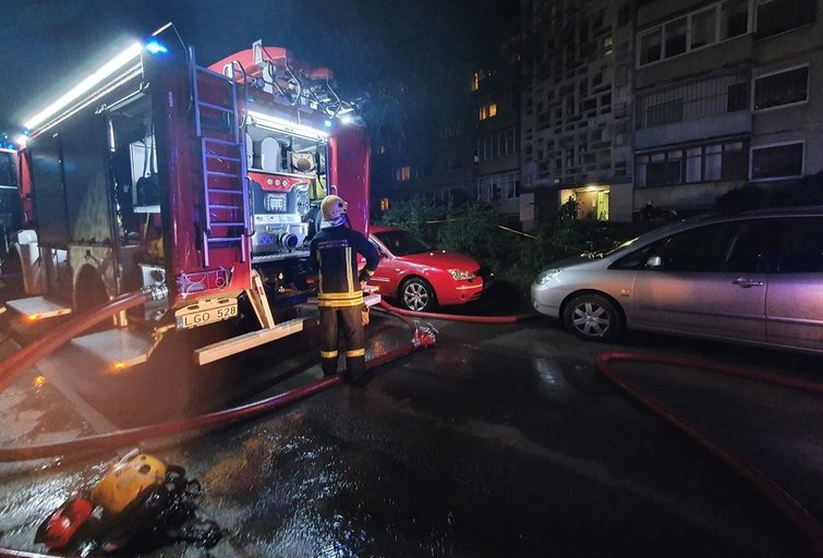 Sujudimas Vilniuje: 8-ajame daugiabučio aukšte kilo gaisras (nuotr. Broniaus Jablonsko)