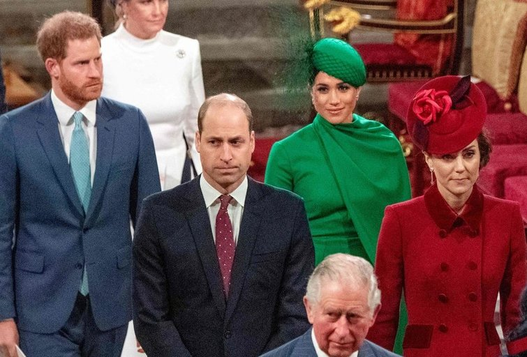 Princas Harry, princas Williamas, Meghan Markle ir Kate Middleton (nuotr. SCANPIX)