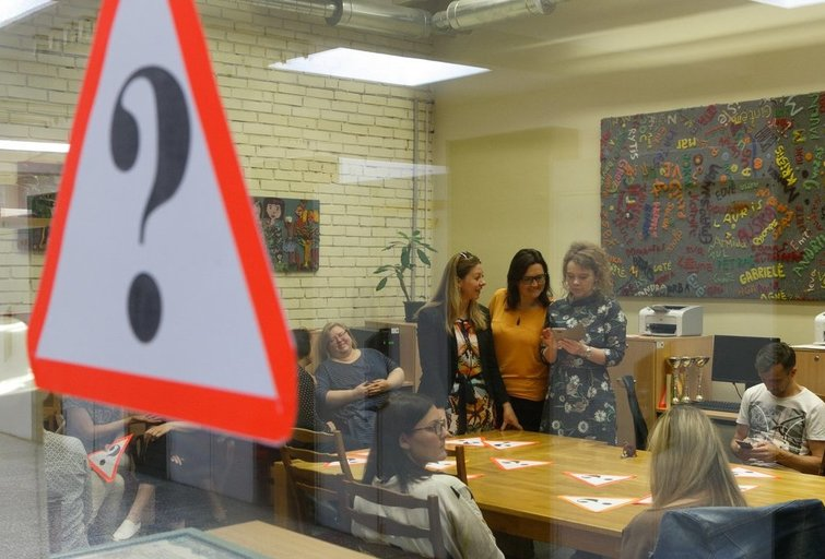 Vyko pedagogų streikas (nuotr. Tv3.lt/Ruslano Kondratjevo)