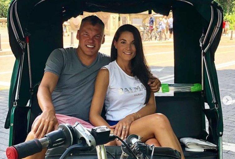 Š. Jasikevičius su žmona lankėsi Niujorke (nuotr. Instagram)