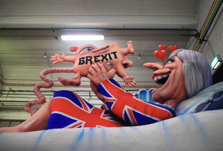 """Brexit"" žinia (nuotr. SCANPIX)"