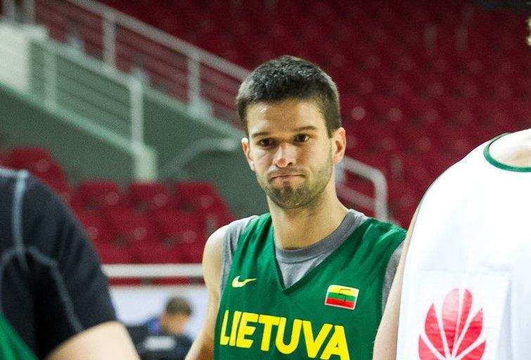 Lietuvos vyrų krepšinio rinktinės treniruotė (nuotr. Tv3.lt/Ruslano Kondratjevo)