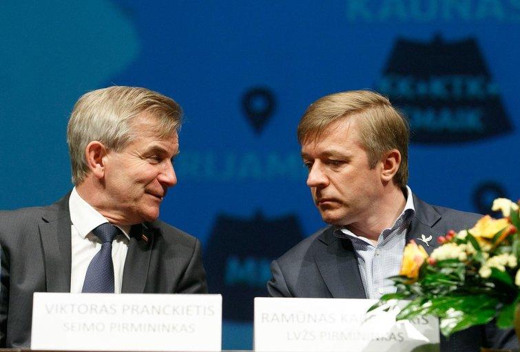 Viktoras Pranckietis, Ramūnas Karbauskis (nuotr. Tv3.lt/Ruslano Kondratjevo)