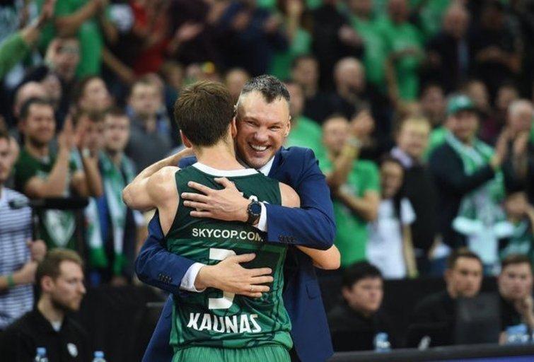 Šarūnas Jasikevičius ir Kevinas Pangosas (nuotr. Fotodiena.lt)