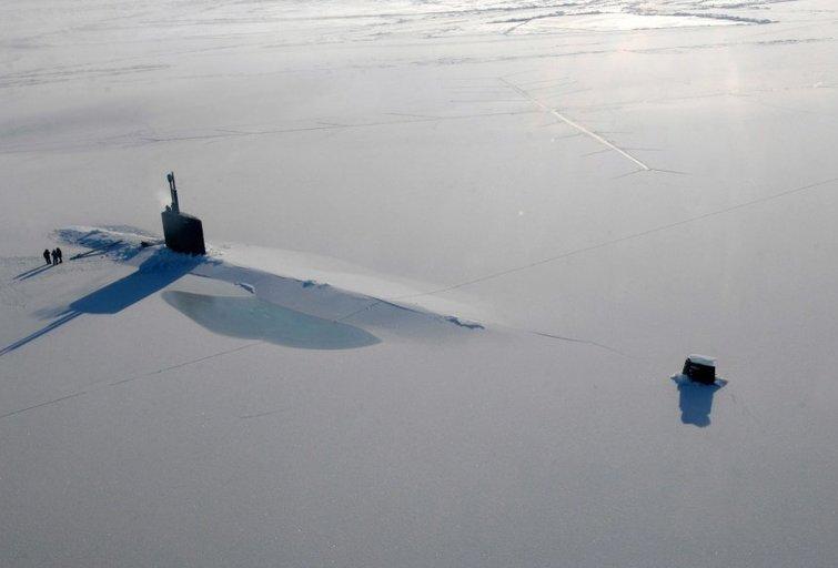 JAV povandeninis laivas Arktyje (nuotr. SCANPIX)