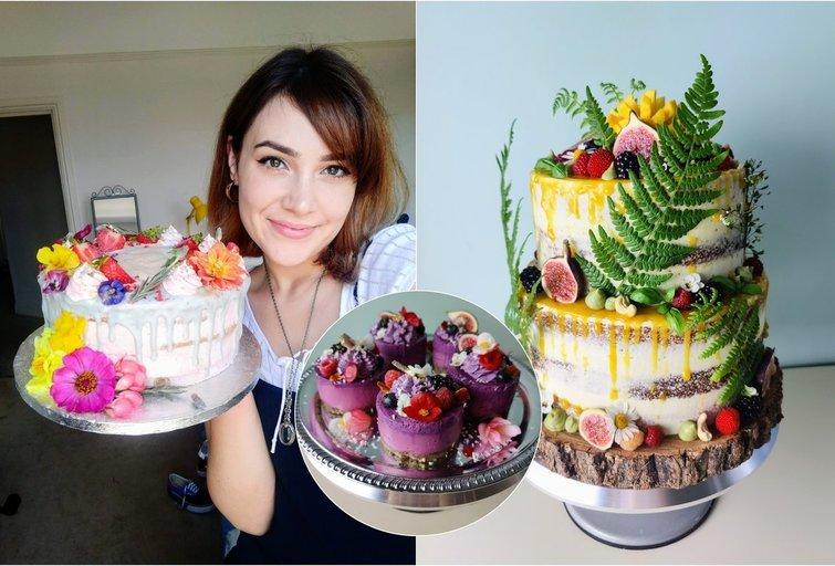 Kaunietės gaminami veganiški desertai primena meno kūrinius (nuotr. asm. archyvo)