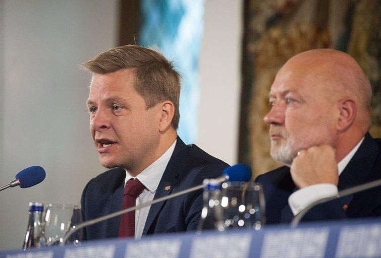 Liberalų spaudos konferencija rinkimų rezultatams aptarti (nuotr. Fotodiena.lt)