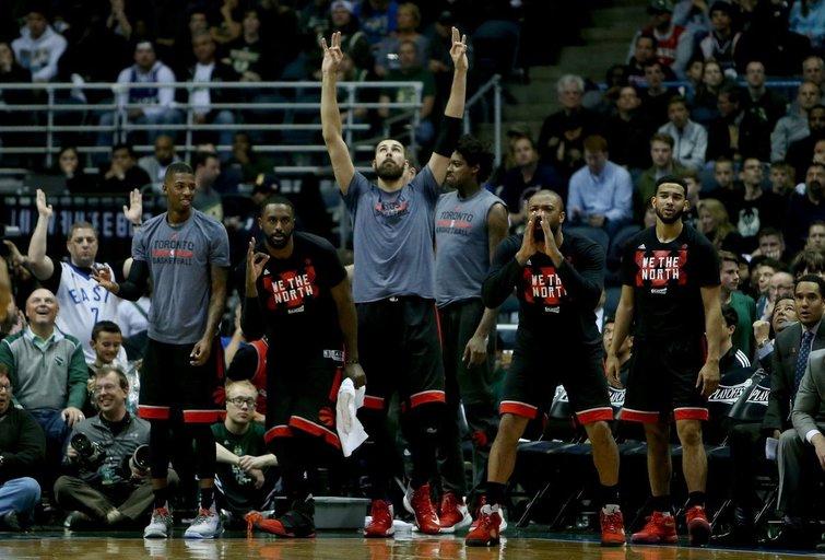 """Milvokio """"Bucks"""" – Toronto """"Raptors"""" 89:92 (nuotr. SCANPIX)"""