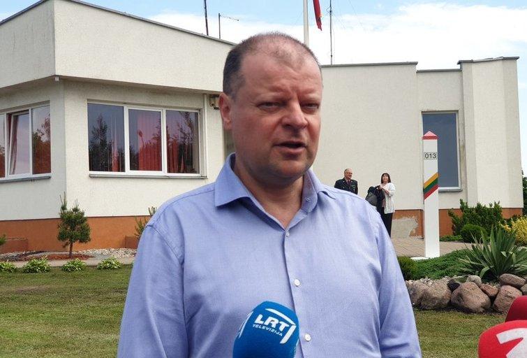 Skvernelis susitikime su Lenkijos premjeru (nuotr. Raimundo Maslausko)