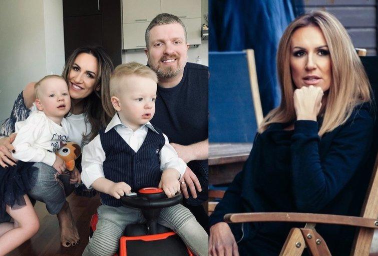 Katažina Zvonkuvienė su šeima (tv3.lt fotomontažas)