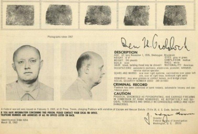 """Las Vegaso šaulio tėvas buvo """"bankus plėšęs pavojingas psichopatas"""" (nuotr. SCANPIX)"""