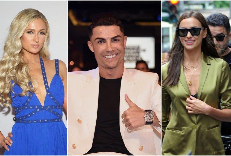 P. Hilton, C. Ronaldo, I. Shayk (nuotr. SCANPIX) tv3.lt fotomontažas