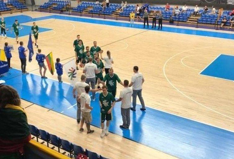 Lietuvos kurčiųjų krepšinio rinktinė (nuotr. stop kadras)