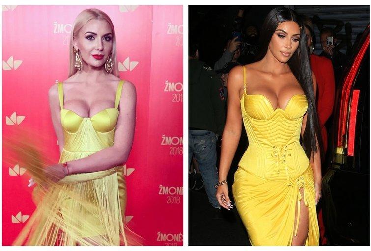 "M. Šedžiuvienė ir K. Kardashian (""Instagram"" ir ""Vida Press"" nuotr.) (tv3.lt fotomontažas)"