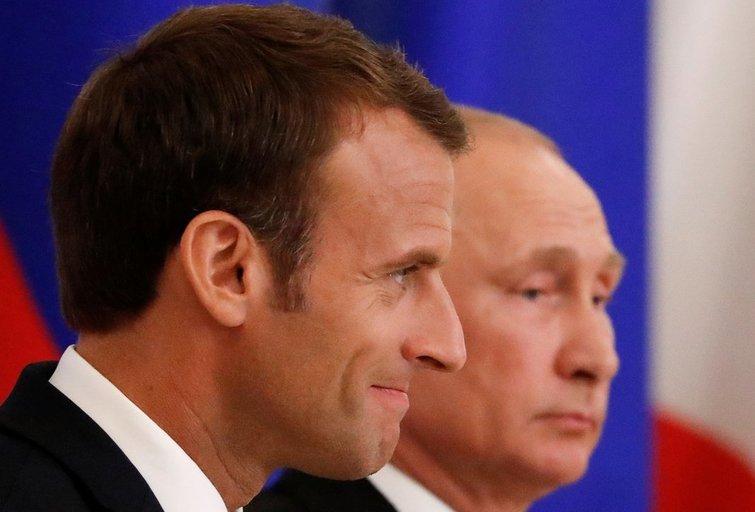 Prancūzijos prezidentas: V. Putinas svajoja apie Europos Sąjungos griūtį (nuotr. SCANPIX)