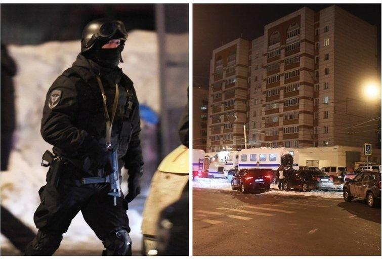 Ginkluota drama Rusijoje: buitinis konfliktas baigėsi policijos spec. operacija ir pareigūno žūtimi (nuotr. SCANPIX)