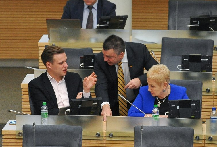 Antanas Matulas, Irena Degutienė ir Gabrielius Landsbergis (nuotr. Fotodiena.lt)