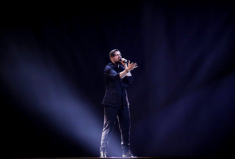 Jurijus Veklenko pirmąkart užlipo ant Eurovizijos scenos (nuotr. Thomas Hanses)