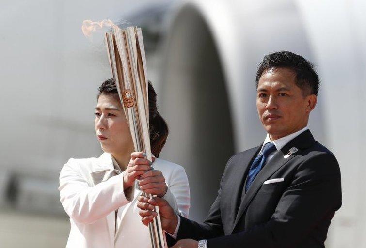 Tokijo olimpiados deglo estafetė prasidės be žiūrovų. (nuotr. SCANPIX)