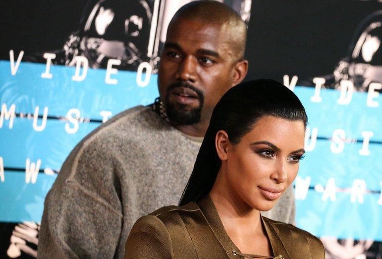 Kim Kardashian ir Kanye Westas (nuotr. Vida Press)