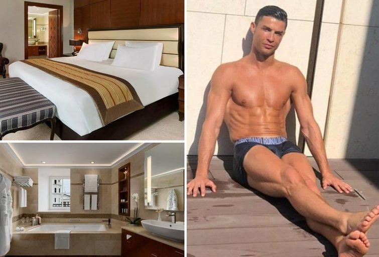 Šiame kambaryje nakvojo Ronaldo: pamatykite iš arti (Kempinski nuotr.)