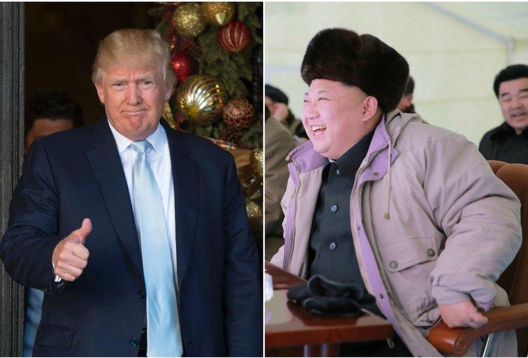 D. Trumpas ir Kim Jong Unas (nuotr. SCANPIX) tv3.lt fotomontažas