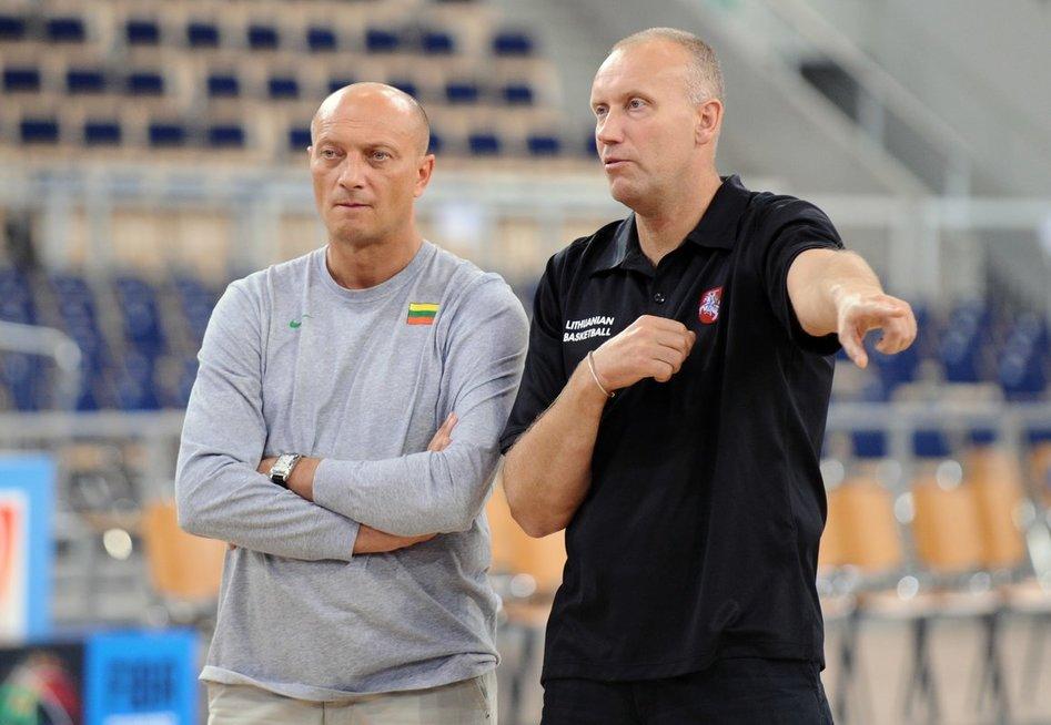 Ramūnas Butautas ir Rimas Kurtinaitis (nuotr. Fotodiena.lt)