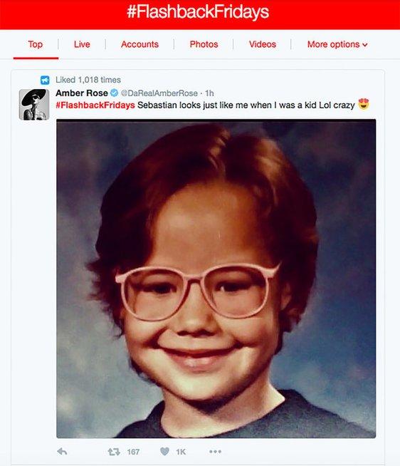Amber Rose vaikystėje (nuotr. Twitter)