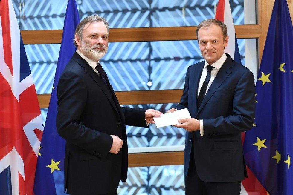 """Oficiali """"pabaigos pradžia"""" paskelbta: Britanija įteikė ES pasitraukimo dokumentą (nuotr. SCANPIX)"""