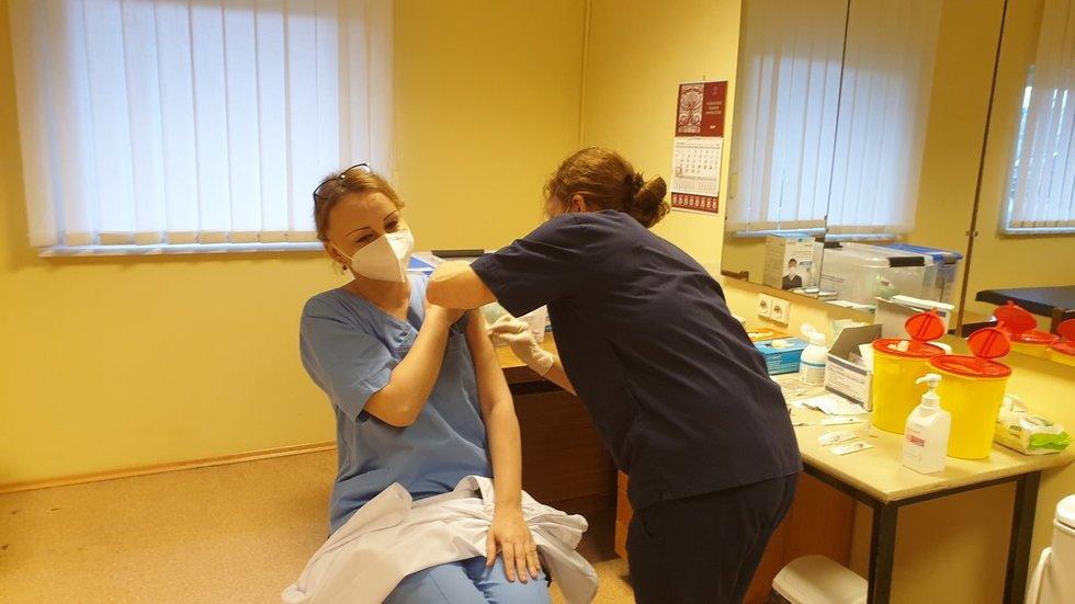 Vakcinacija Marijampolės ligoninėje.