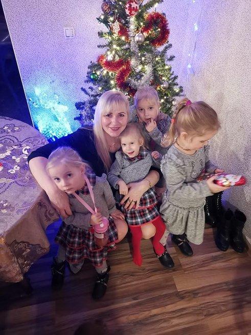 Lina Strangienė su vaikais