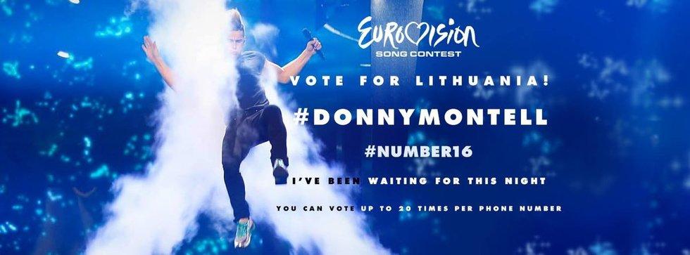 """Donny Montell kvietimas """"Eurovizijos"""" finale balsuoti už Lietuvą (nuotr. facebook.com)"""