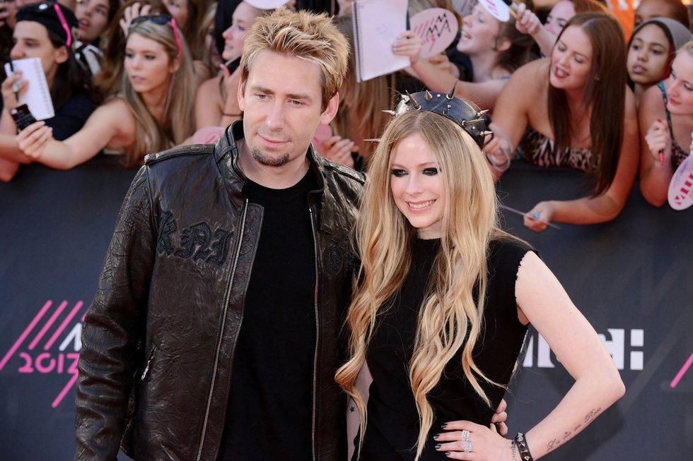 Avril Lavigne ir Chadas Kroegeris (nuotr. Vida Press)