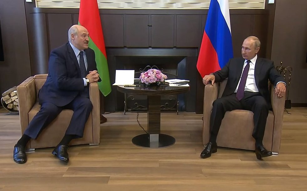 A. Lukašenka ir V. Putinas