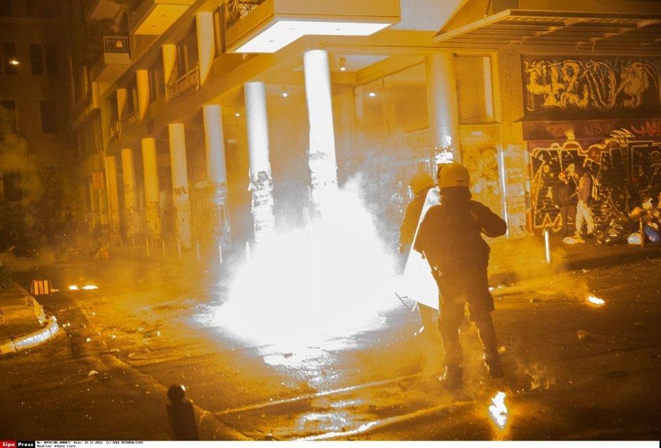 Protesto akcijos Graikijoje (nuotr. SCANPIX)